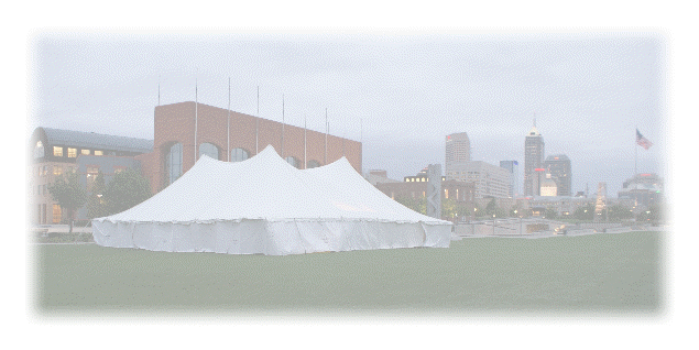 With sizes of our tents ranging up to an 80 x 350 in stock we can accommodate any large or small event . Frame tents and rope tents are available. & INDY TENTS